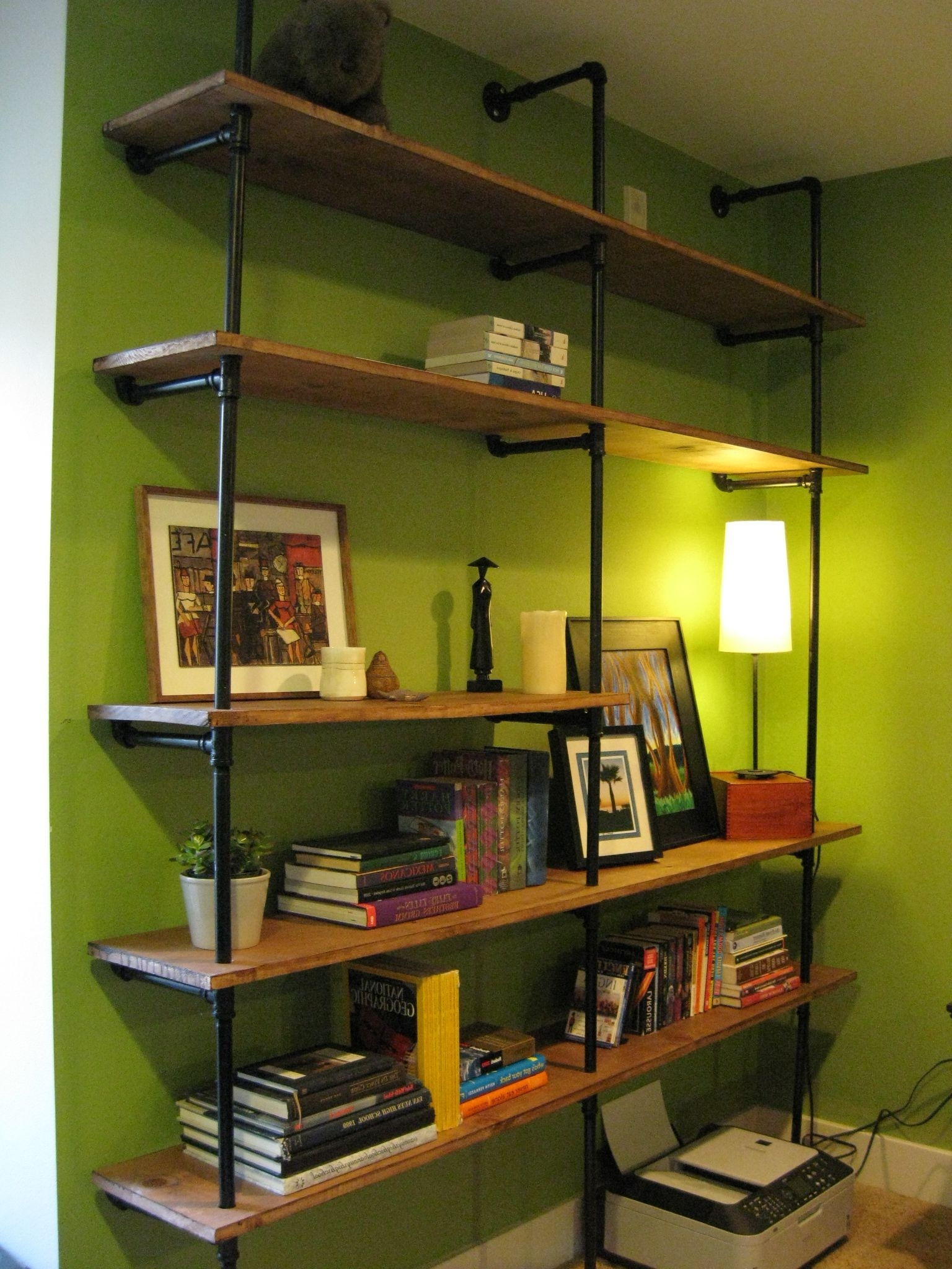 Most Recent Pipe Bookcases In Diy Pipe Shelving — The Overly Detailed Tutorial (View 15 of 15)