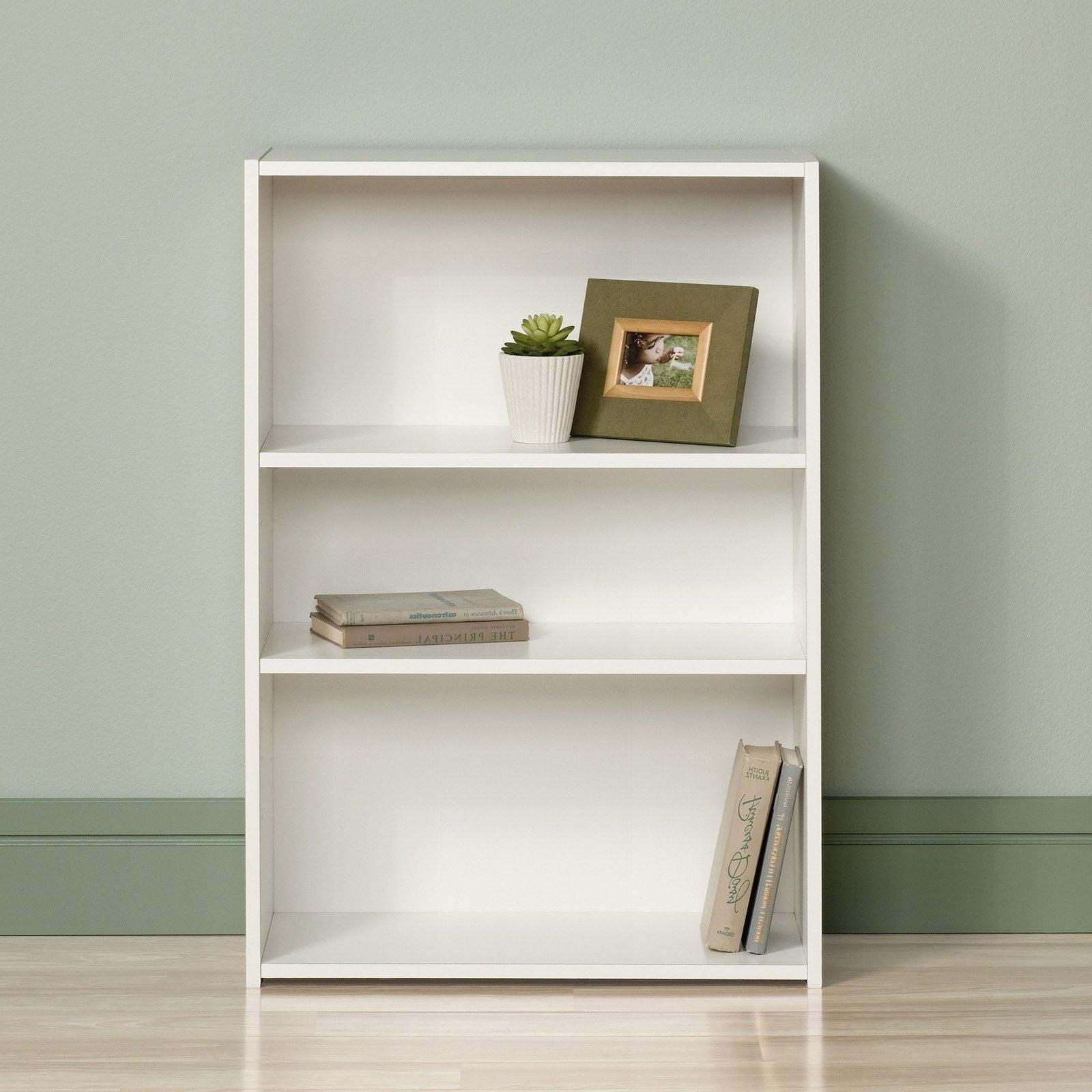 Most Recent Sauder Beginnings 3 Shelf Bookcase, Multiple Finishes – Walmart Intended For Sauder Beginnings 3 Shelf Bookcases (View 3 of 15)