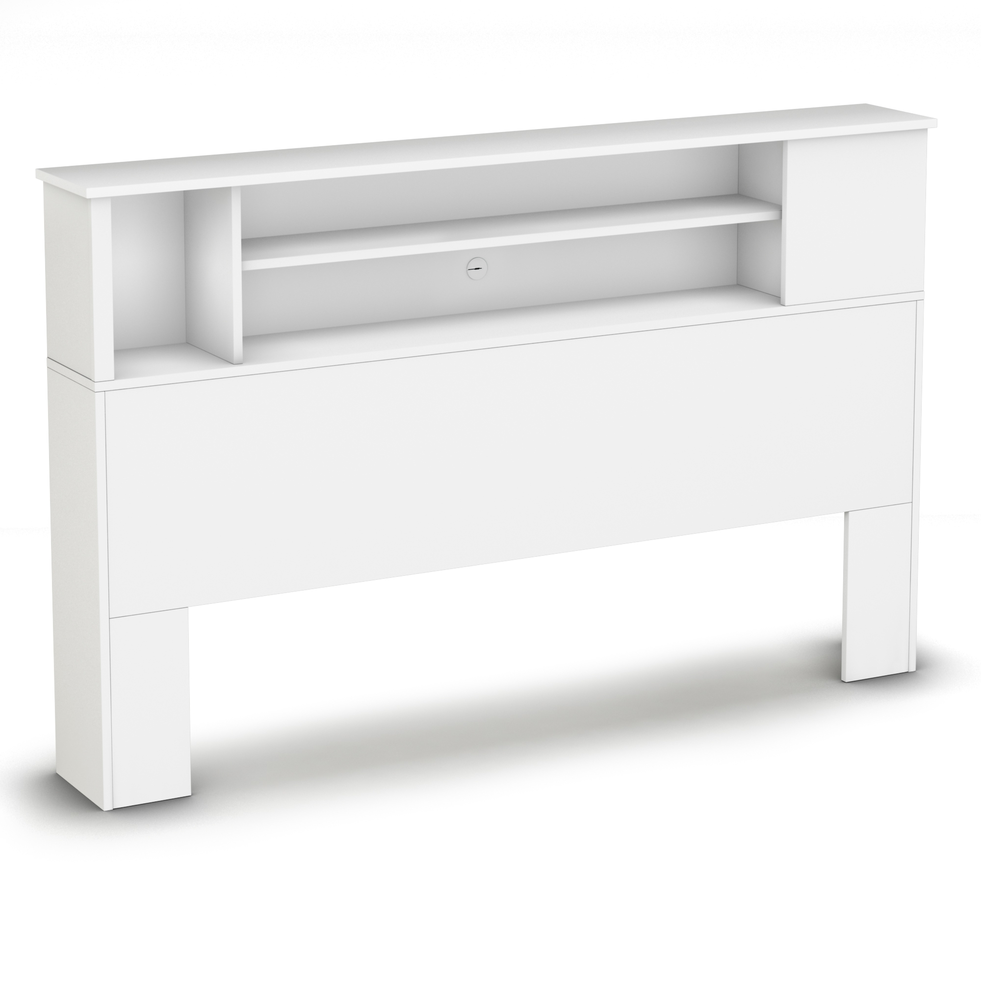 Most Recent South Shore Vito Pure White Full/queen Bookcase Headboard 3150092 Throughout Queen Bookcases Headboard (View 9 of 15)