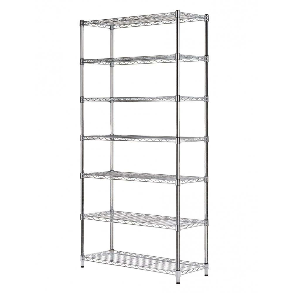 Most Recent Very Narrow Shelving Unit In Industrial Kitchen With Freestanding Wire Narrow Shelving Unit (View 11 of 15)