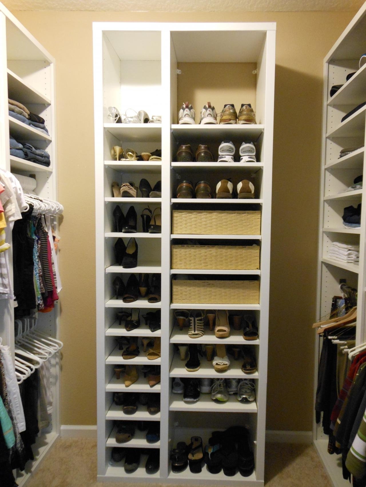 Most Recent Wardrobes Shoe Storages For Closet Storage : Hanging Shoe Organizer Target Shoe Storage Ideas (View 10 of 15)