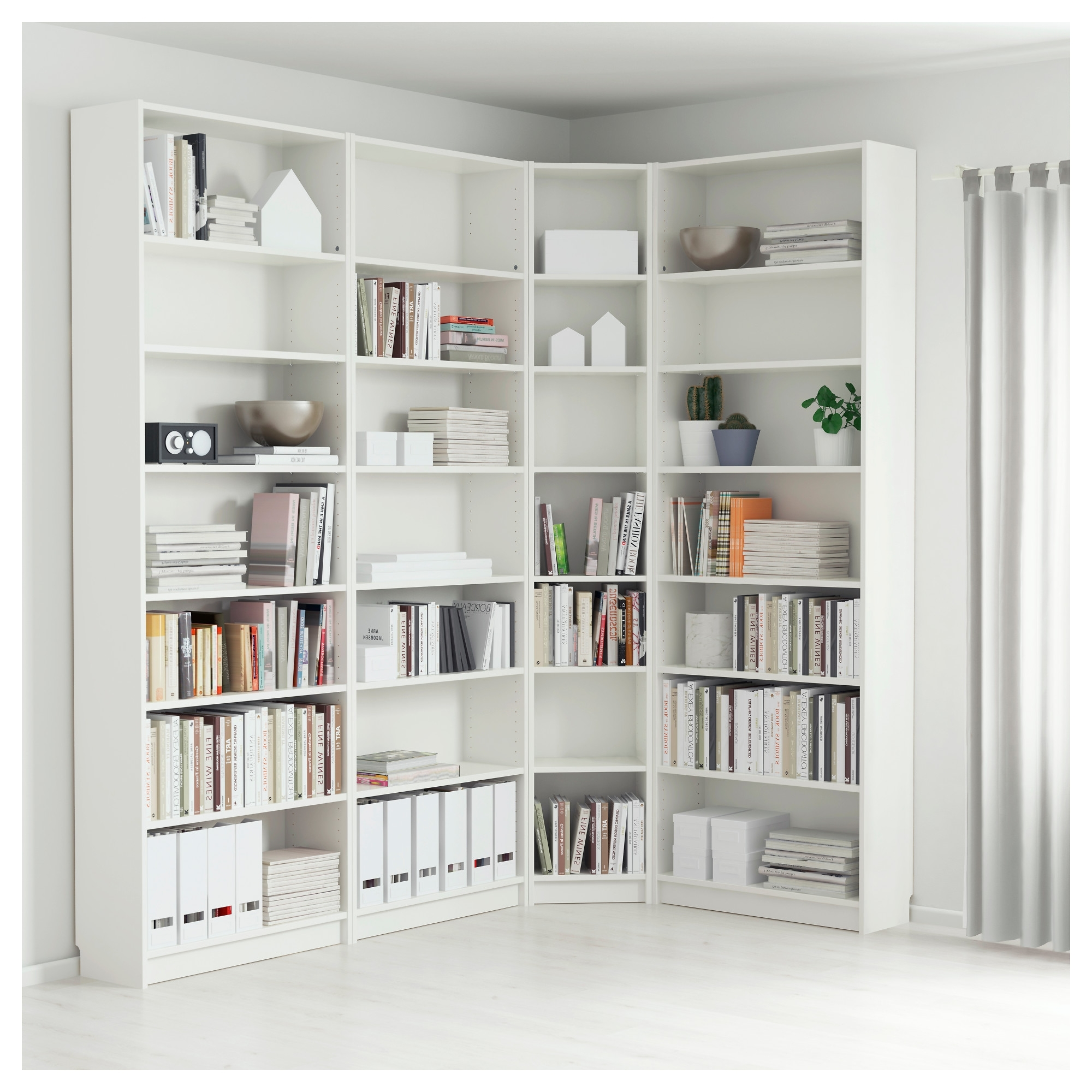 Most Recent White Corner Bookcases For Billy Bookcase – White – Ikea (View 2 of 15)