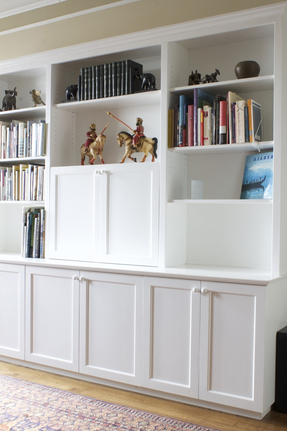 Most Recent White Painted Bookcases With Custom + Built In — 57Th Street Bookcase & Cabinet (View 6 of 15)