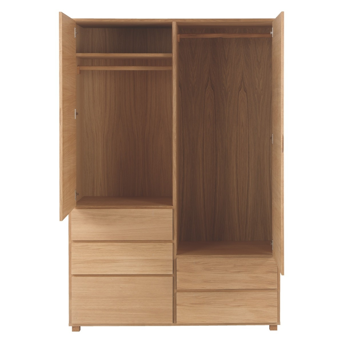 Most Recently Released 2 Door Wardrobes With Drawers And Shelves With Regard To 2 Door Wardrobe Brown Cream With Drawers Cabinet Make Your Room (View 12 of 15)