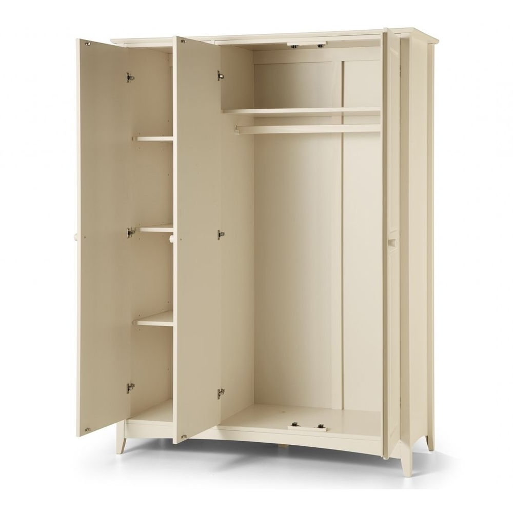 Most Recently Released 3 Door White Wardrobes Intended For 3 Door Triple Wardrobe (View 11 of 15)