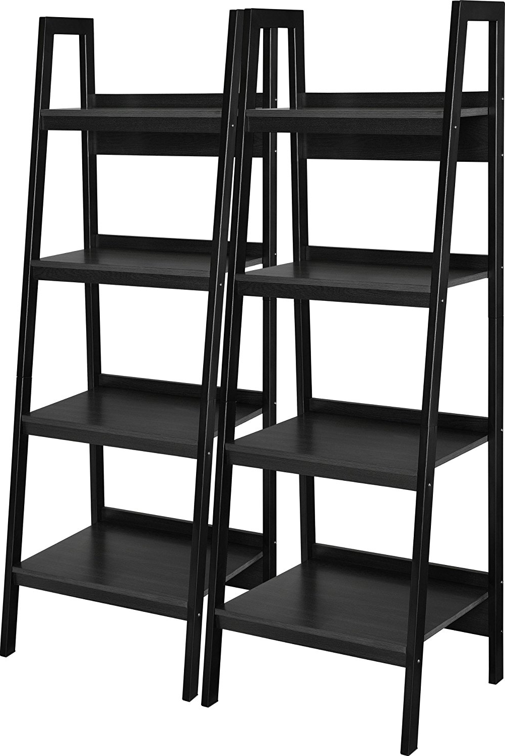 Most Recently Released Amazon: Ameriwood Home Lawrence 4 Shelf Ladder Bookcase Bundle Intended For Black Bookcases (View 8 of 15)