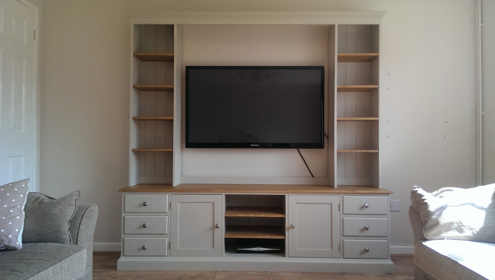 Most Recently Released Bespoke Tv Stand Pertaining To Tv / Entertainment Unit – Bespoke Living Room Furniture – Pine (View 4 of 15)