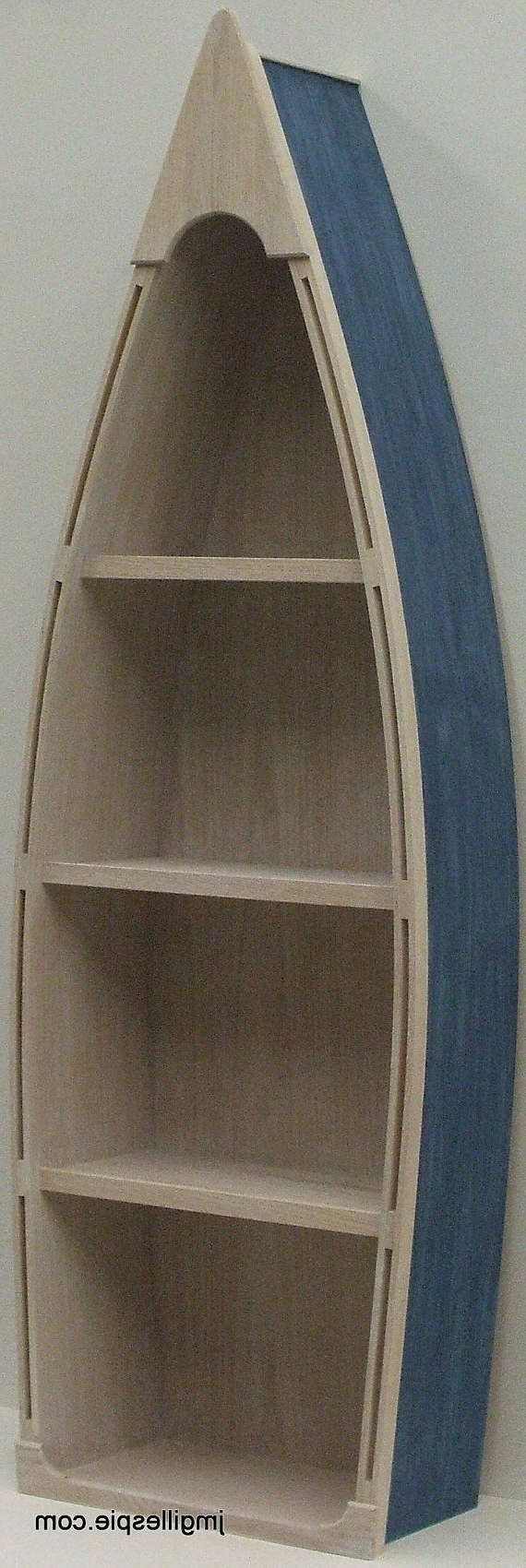 Most Recently Released Boat Bookcases Intended For 6 Ft Unfinished Row Boat Shelf Bookshelf Bookcase Hand Crafted (View 9 of 15)
