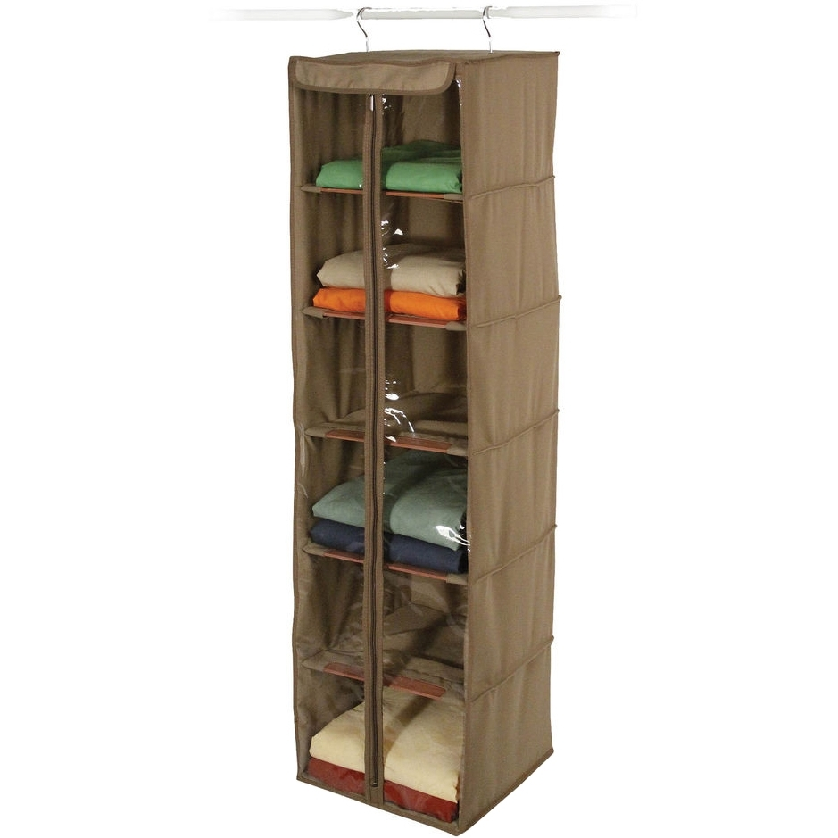 Most Recently Released Canvas Hanging Closet Shelves – Cedar In Hanging Closet Shelves With Hanging Wardrobes Shelves (View 11 of 15)