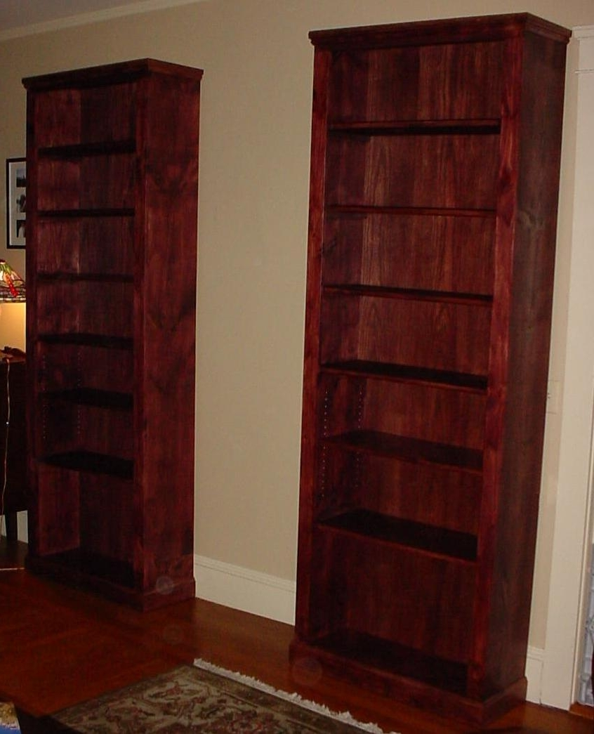 Most Recently Released Cherry Wood Bookcases For Decor: Cherry Wood Tall Bookcase With Interior Paint Ideas And (View 12 of 15)