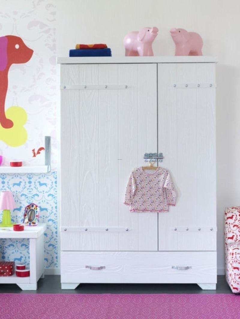 Most Recently Released Childrens Pink Wardrobes Intended For Furniture: Inspiring Decorating Ideas Using Rectangular White (View 10 of 15)