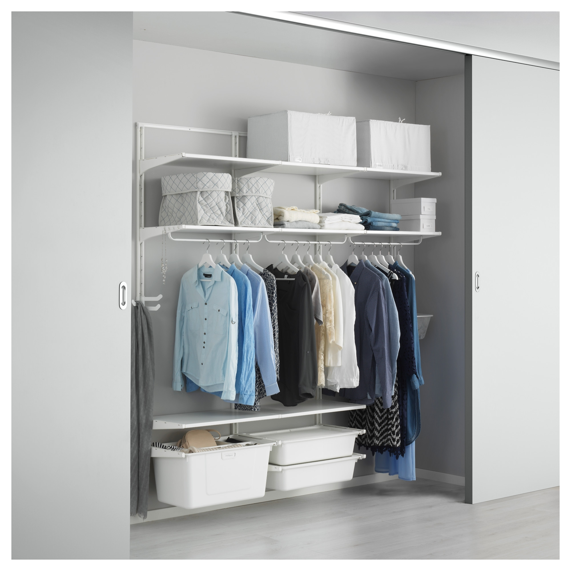 Most Recently Released Closet Storage : Lowes Garment Rack Closet Organizer Systems Wood In Mobile Wardrobes Cabinets (View 10 of 15)