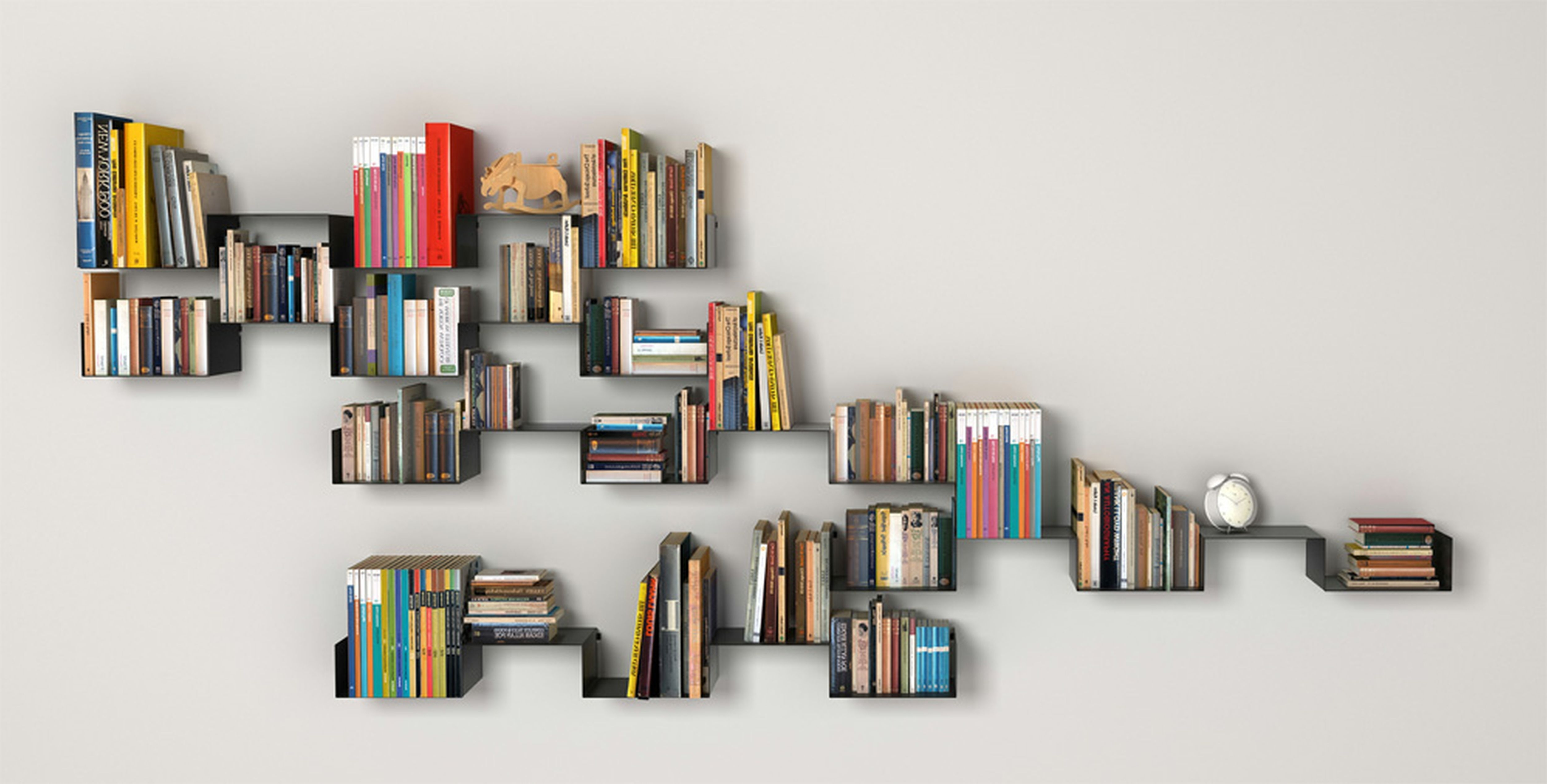 Most Recently Released Cool Bookcases Within Unique Floating Bookcase On White Wall Cool Plus The Cool (View 7 of 15)