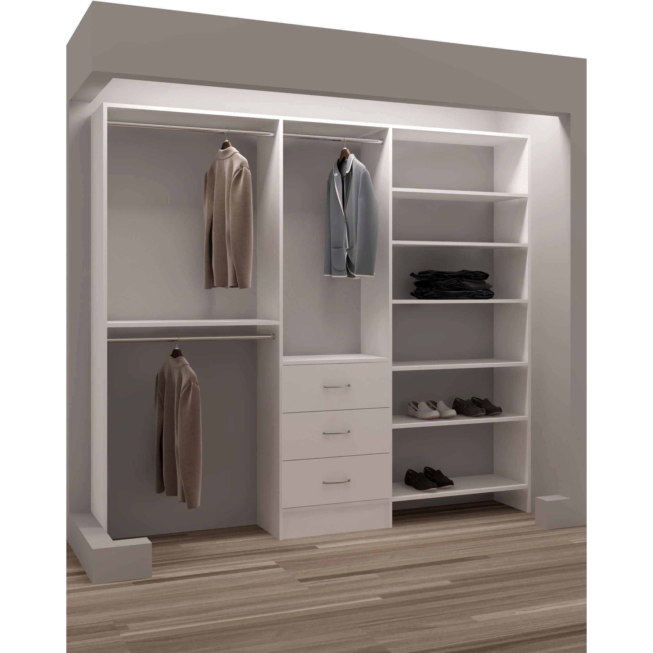 Most Recently Released Furniture : Ikea Double Wardrobe Buy Wardrobe Open Wardrobe System Regarding Double Wardrobes With Drawers And Shelves (View 7 of 15)