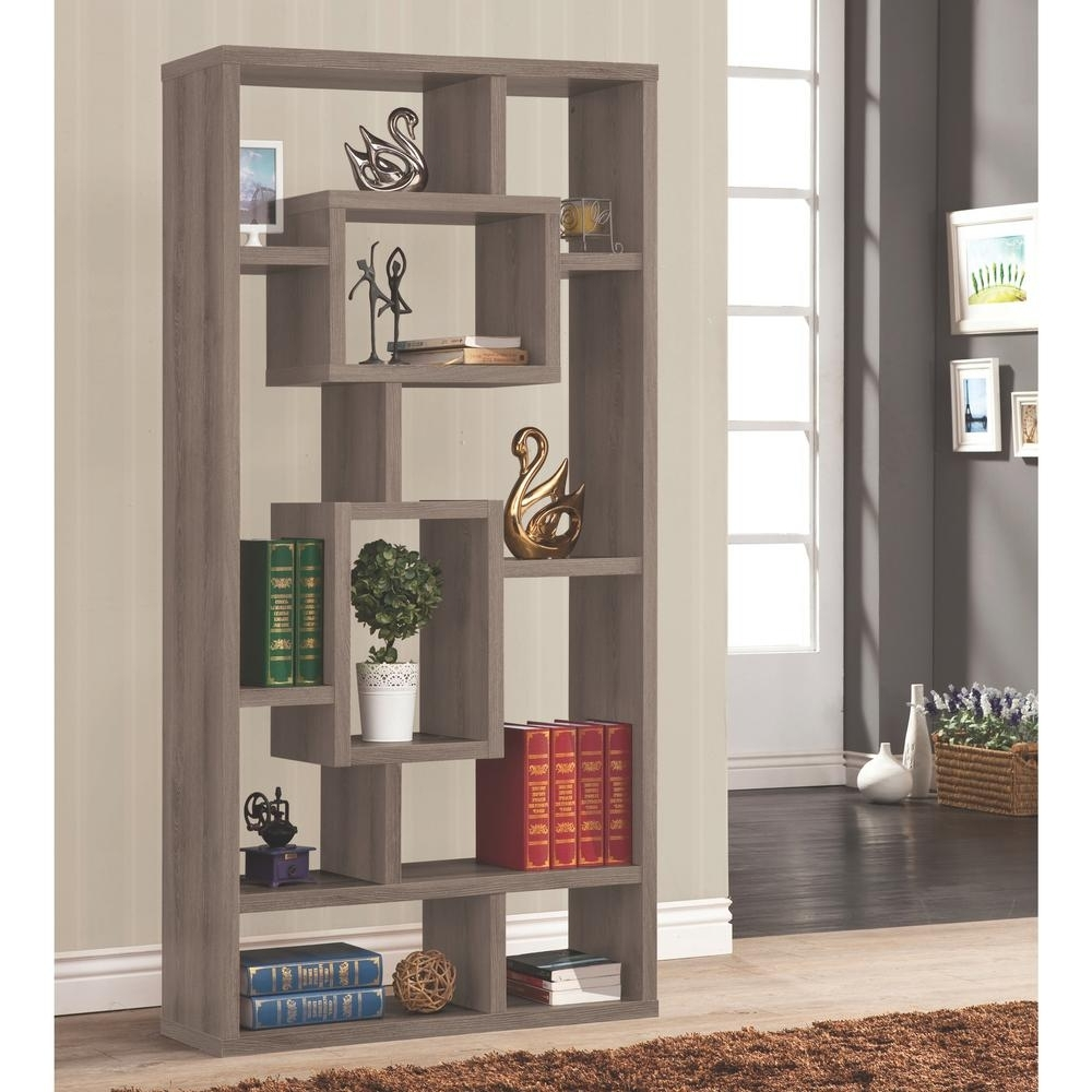Most Recently Released Grey Bookcases With Regard To Venetian Worldwide Maguire Weathered Grey Bookcase V 800512 – The (View 3 of 15)