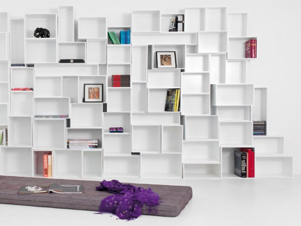 Most Recently Released Home Shelving Systems With Furniture : Stunning Modern Shelving Units Furniture With Cube (View 5 of 15)
