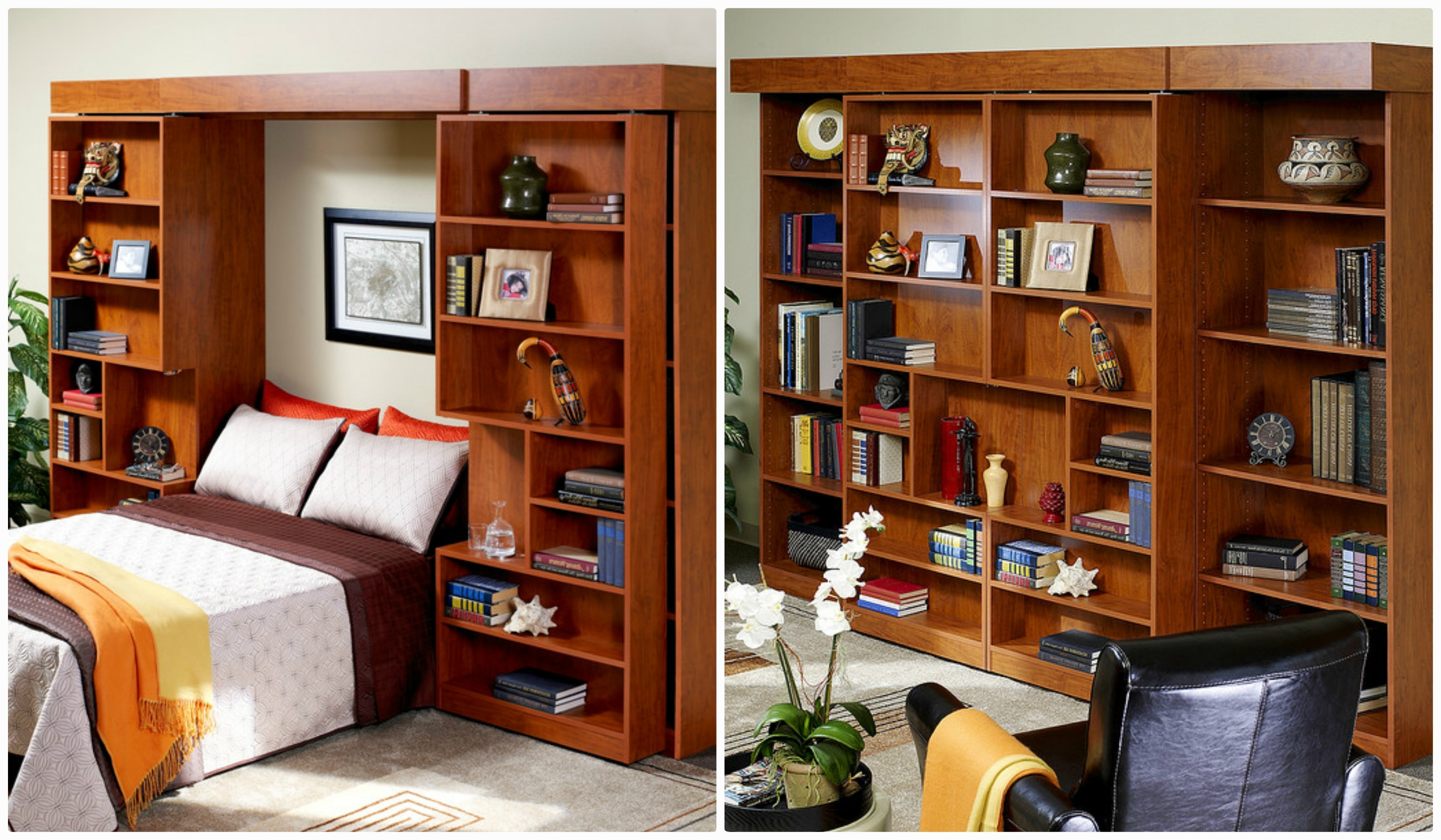 Most Recently Released Murphy Bed With Bookshelves • Shelves Regarding Murphy Bed Bookcases (View 6 of 15)