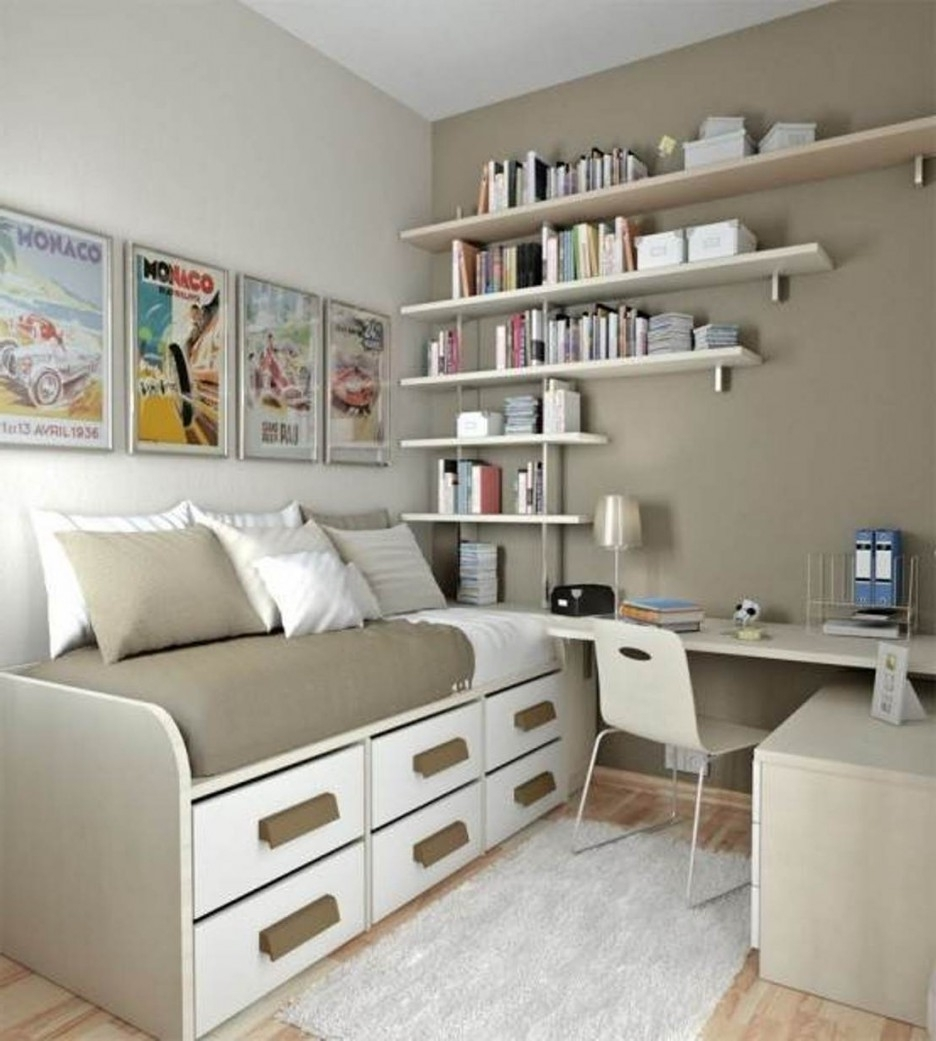 Most Recently Released Study Shelving Ideas Intended For 15 Interior Design Tips & Ideas For Narrow Small Spaces (View 8 of 15)