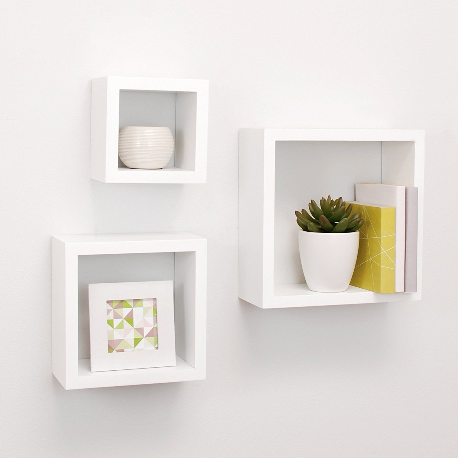 Most Up To Date Amazon: Nexxt Cubbi Contemporary Floating Wall Shelves 55 Pertaining To Wall Shelves (View 2 of 15)