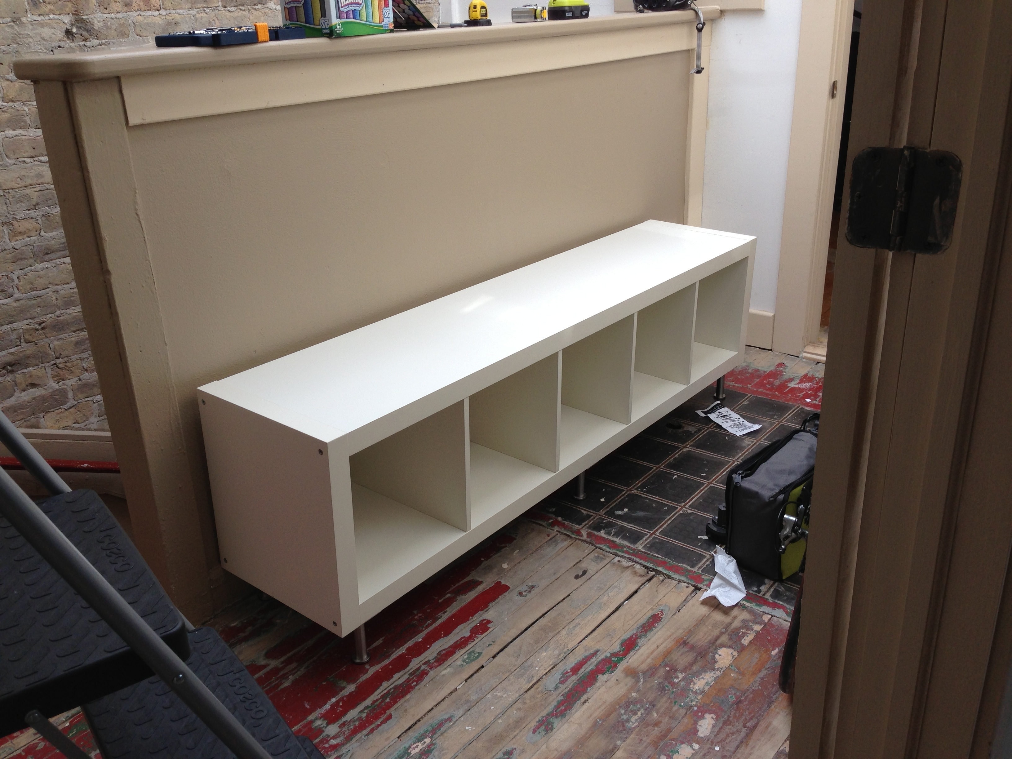 Most Up To Date Bench Bookcases Throughout Ikea Hack: Storage Bench Using Expedit Bookcase With Capita Legs (View 8 of 15)