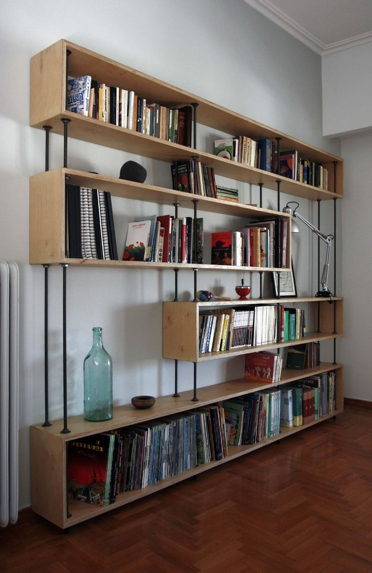 Most Up To Date Colored Bookcases With White Wall Color Interior Design On Small Spaces For Modern Room (View 9 of 15)