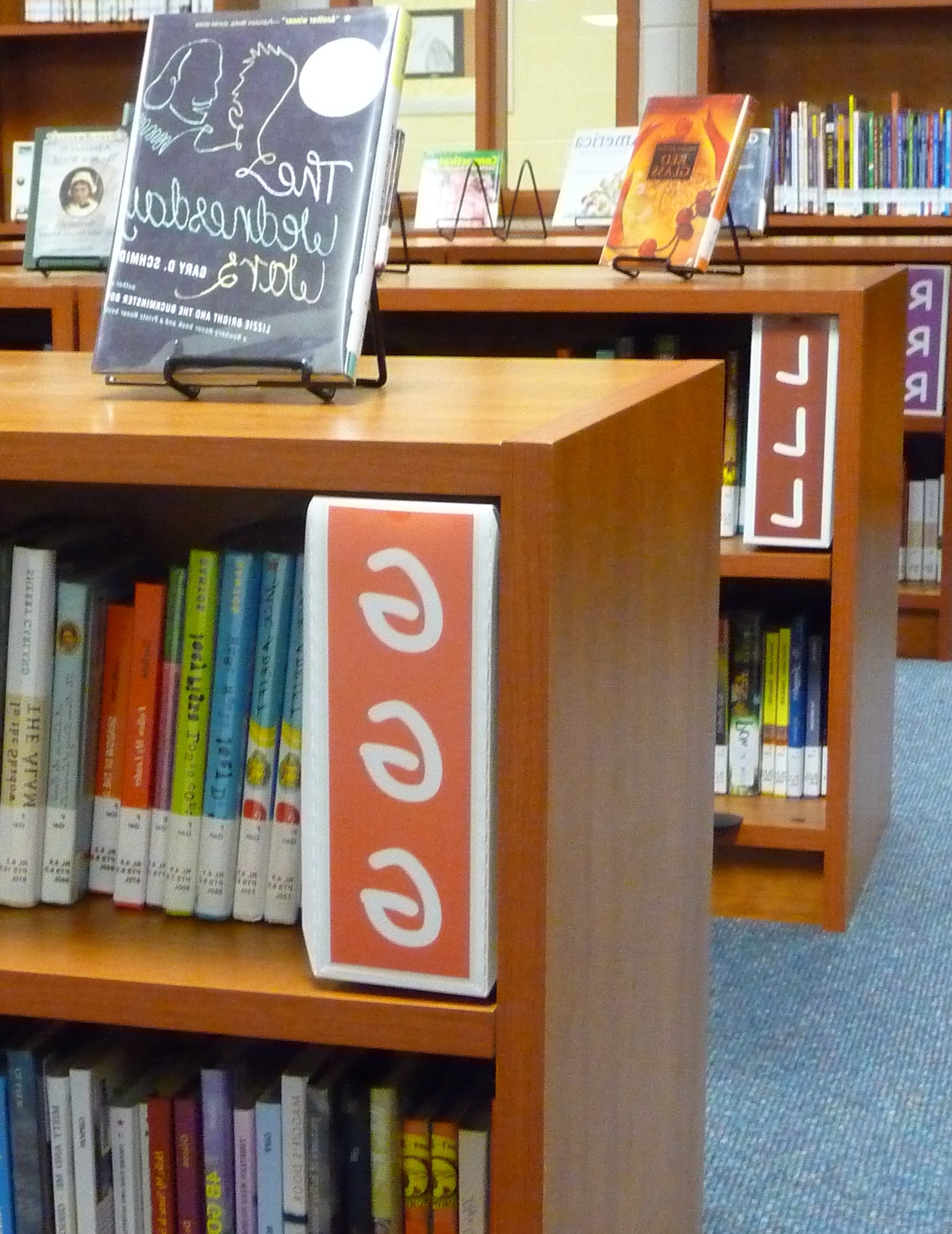 Most Up To Date Fiction Shelf Signs – Fiction Signs With Shelf Divider Stands With Library Shelf Dividers (View 14 of 15)