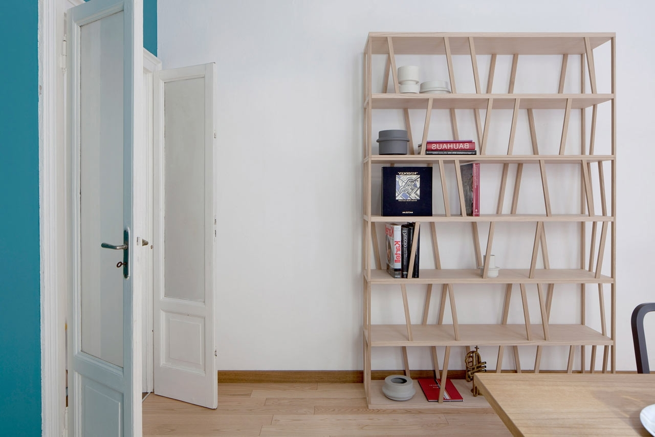 Most Up To Date Free Standing Bookcases In Tilta: A Double Sided Freestanding Bookcase – Design Milk (View 8 of 15)