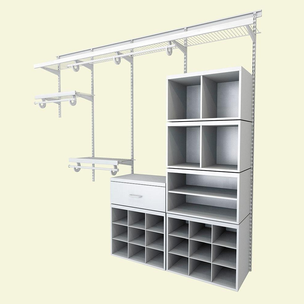 Most Up To Date Home Shelving Systems Within Closetmaid Shelftrack 13 In. D X 48 In. H X 72 In (View 11 of 15)