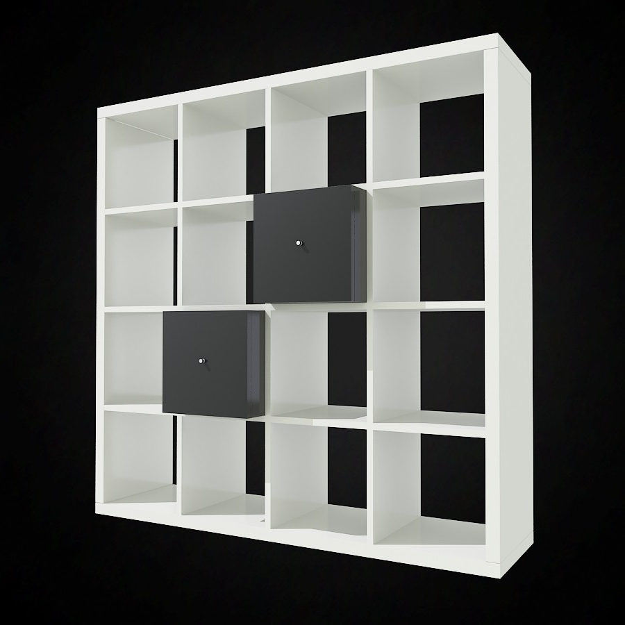 Most Up To Date Ikea Expedit Bookcases Regarding 3d Ikea Expedit Bookcase – High Quality 3d Models (View 12 of 15)