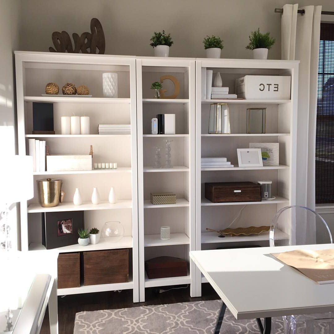Most Up To Date Ikea #hemnes #bookshelf Natural Wood, White And Gold Accents From Throughout Hemnes Bookcases (View 12 of 15)