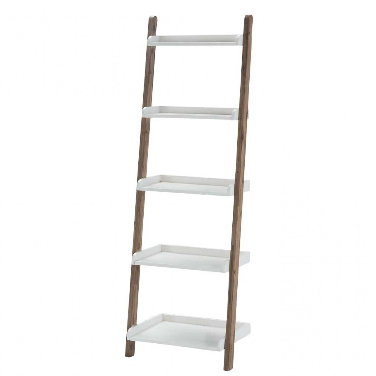 Most Up To Date Leaning Bookcase White Pertaining To White Leaning Bookcases (View 6 of 15)