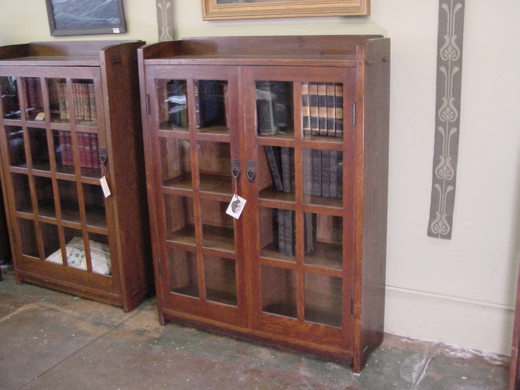 Most Up To Date Mission Style Bookcases With Regard To Voorhees Craftsman Mission Oak Furniture – Gustav Stickley 2 Door (View 11 of 15)