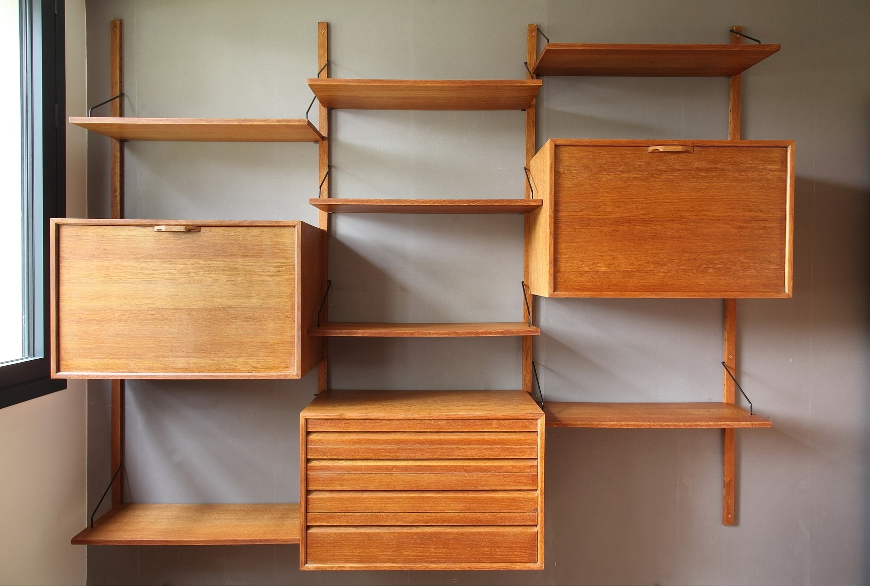 Most Up To Date Oak Wall Shelves Intended For Oak Wall Unitpoul Cadovius From Royal System, 1960S For Sale (View 7 of 15)
