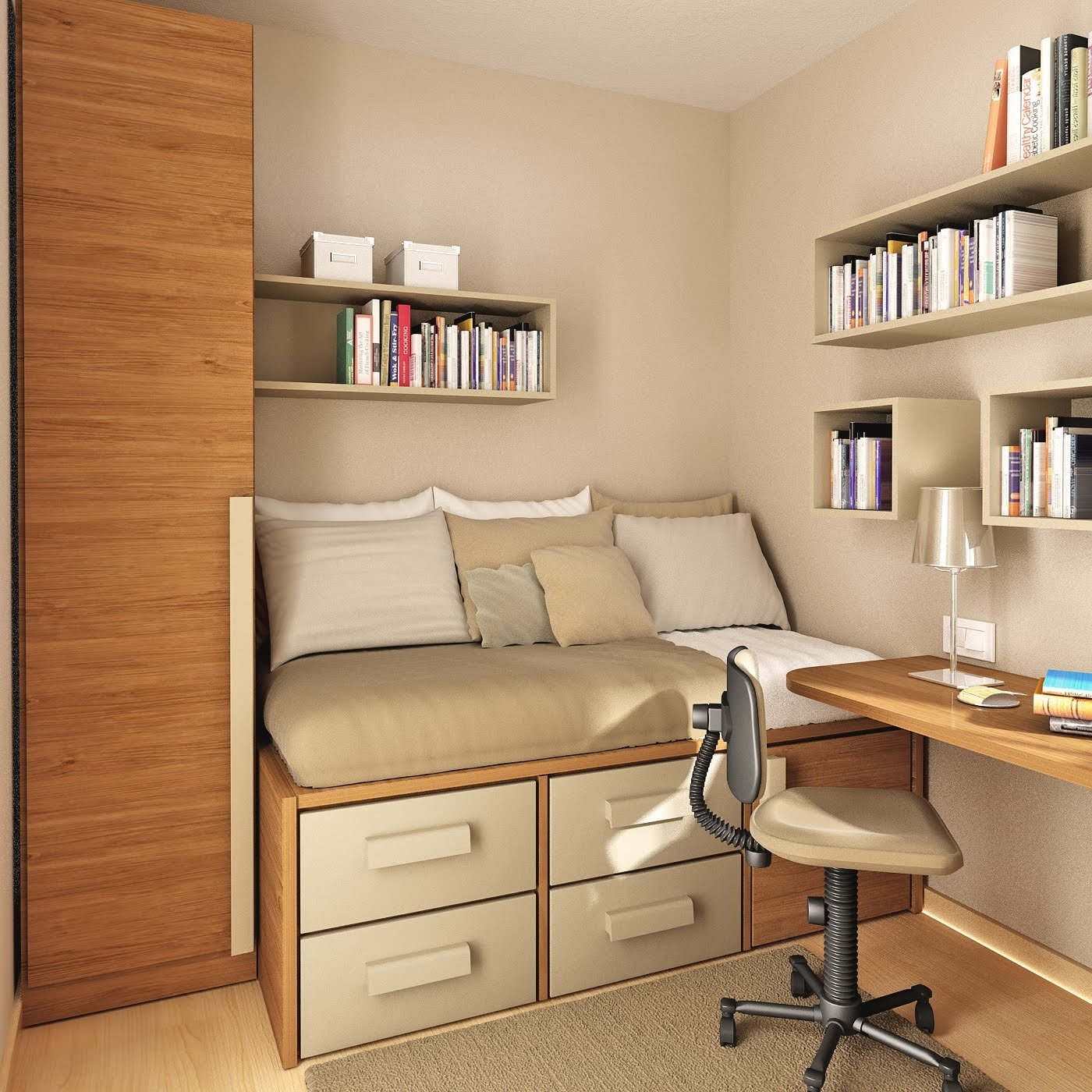 Most Up To Date Others : Awesome Study Room Design Ideas For Your Inspirations With Regard To Study Room Cupboard Design (View 4 of 15)