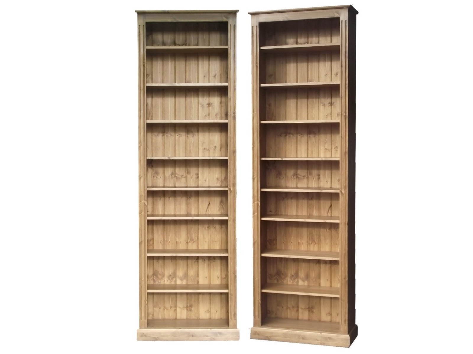 Most Up To Date Pine Bookcases Pertaining To Solid Wood Bookcases, Pine Shelving & Display Units (View 12 of 15)