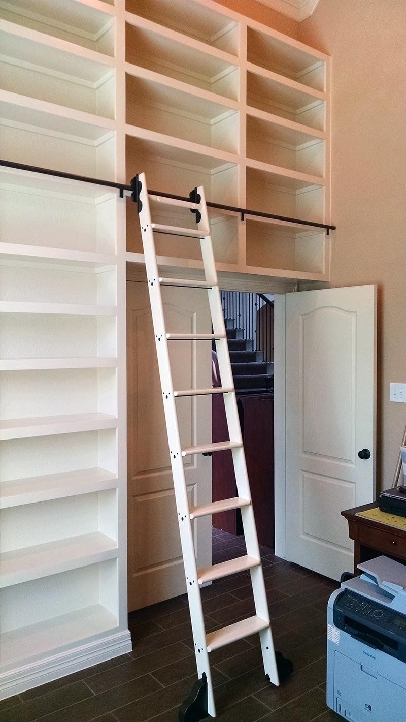 """Most Up To Date Quiet Glide Rolling 20""""w Library Ladder Kit (With Ladder) – Black Throughout Rolling Library Ladder (View 10 of 15)"""