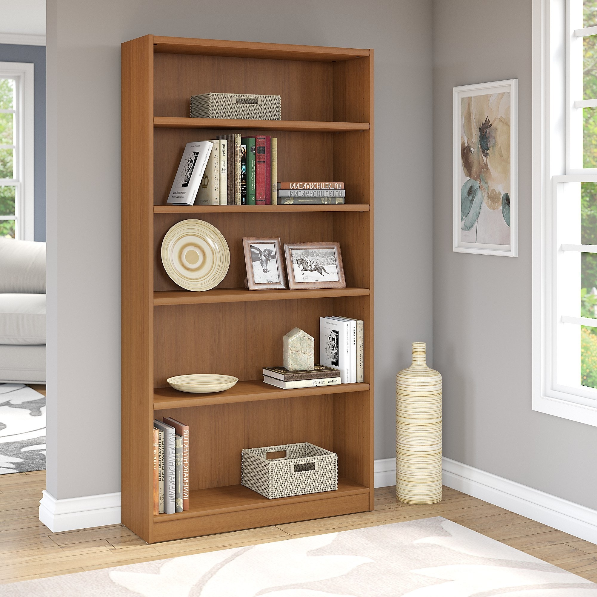 Most Up To Date Red Barrel Studio Universal Bookcase Standard Bookcase & Reviews In Flat Pack Bookcases (View 12 of 15)