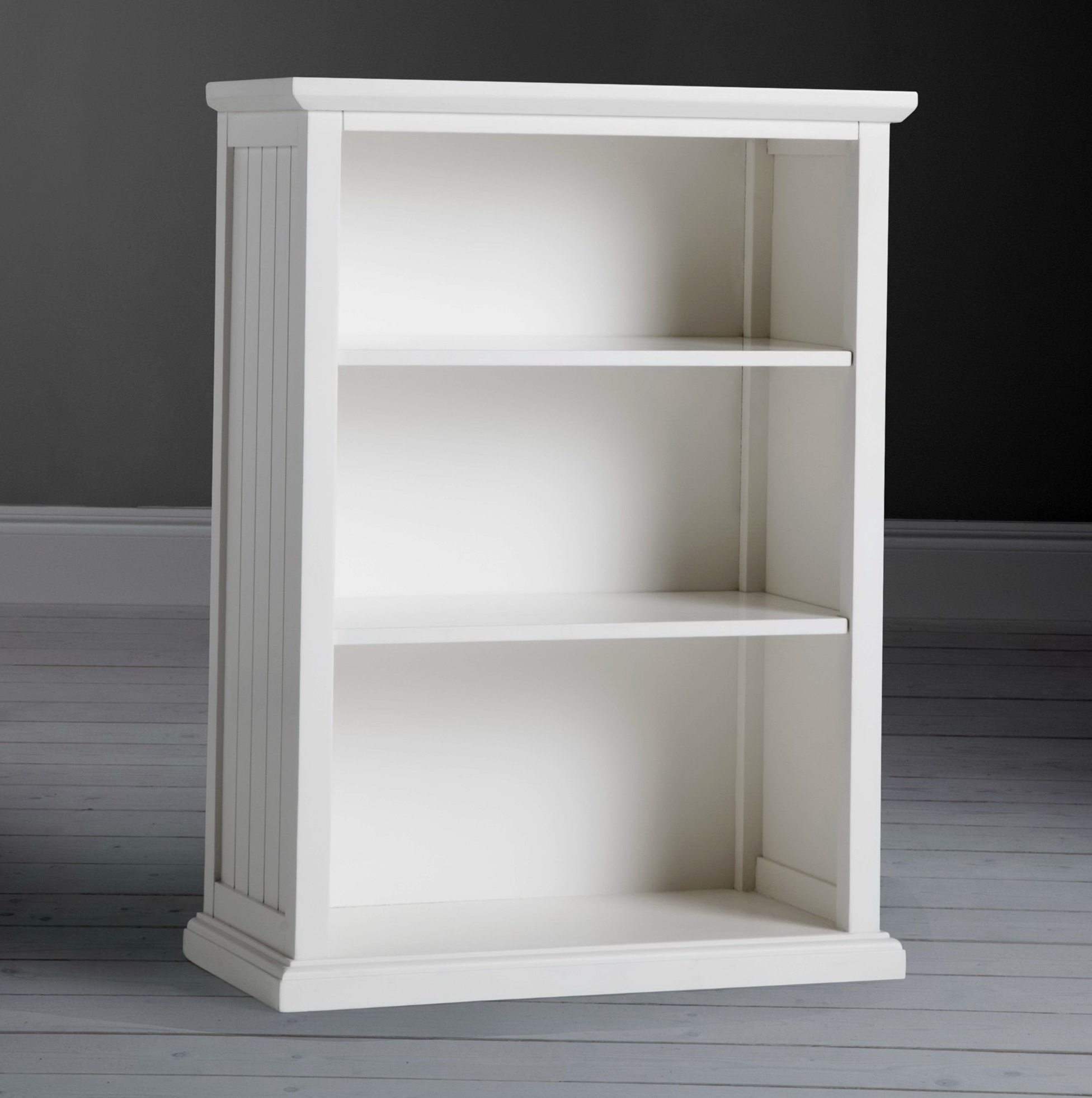 Most Up To Date Small White Bookcases For Small White Bookcase 3 Shelves Storage White Color Rectangle (View 8 of 15)