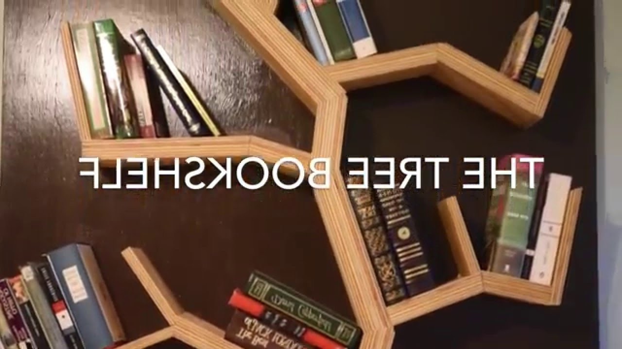 Most Up To Date Tree Bookcases Regarding Diy: How To Make A Tree Bookshelf – Youtube (View 3 of 15)