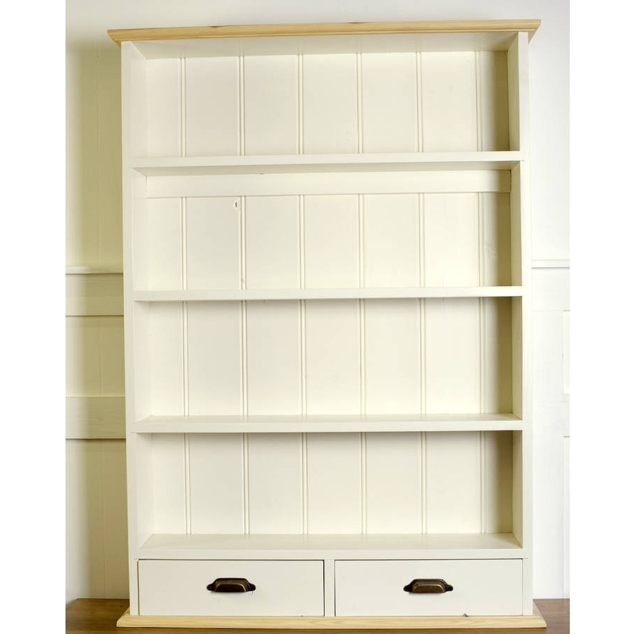 Most Up To Date Wall Shelving Units In Old English Painted Kitchen Wall Unit Wall Shelf Units Wood High (View 6 of 15)