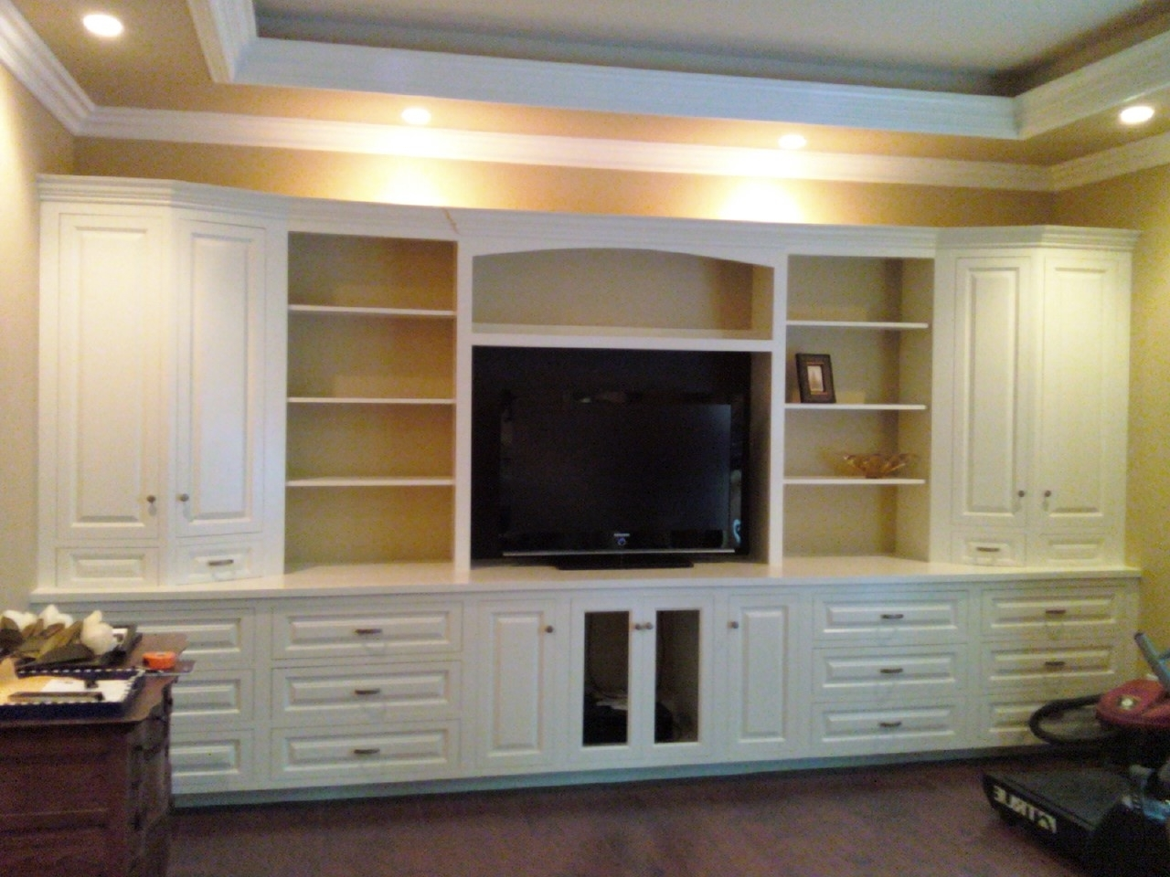 Most Up To Date Wall Storage Units Pertaining To Great Design Ideas Using Rectangular White Wooden Cabinets And (View 5 of 15)