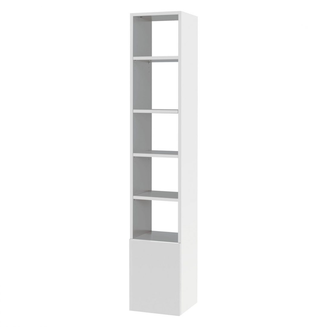 Narrow And Shorthite Bookcases Tall Bookcasesnarrow Bookcaseood Inside Well Liked Tall White Bookcases (View 13 of 15)