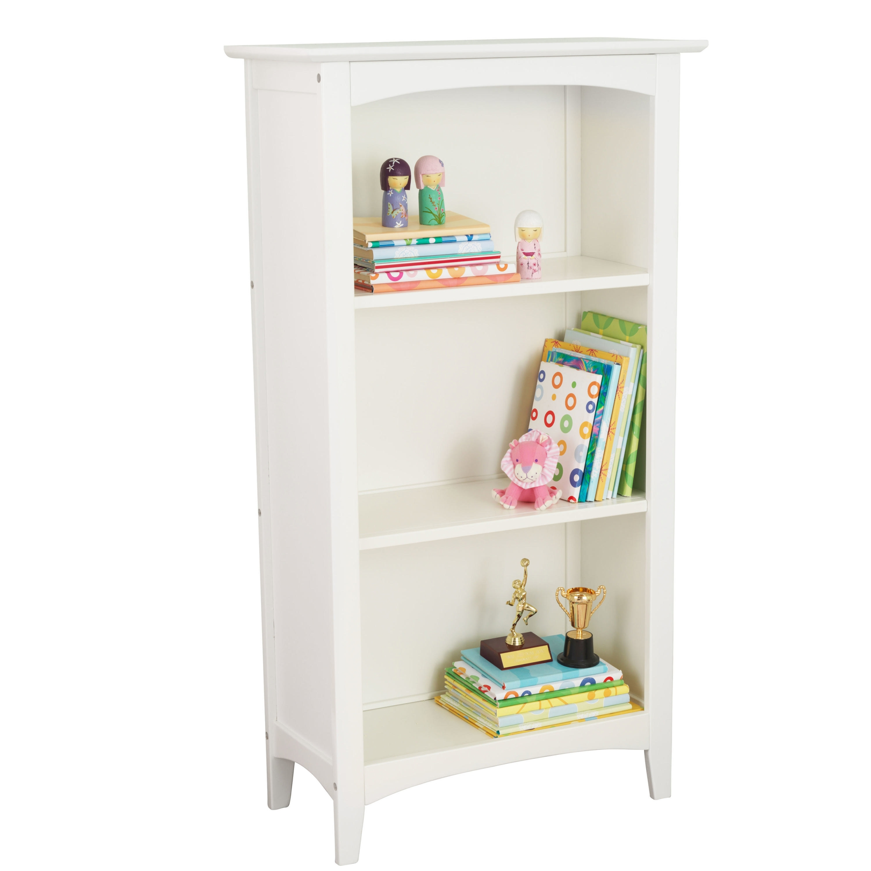 Narrow White Bookcases Pertaining To Favorite Furniture : Wide 2 Shelf Bookcase Cheap Bookshelves For Sale (View 14 of 15)