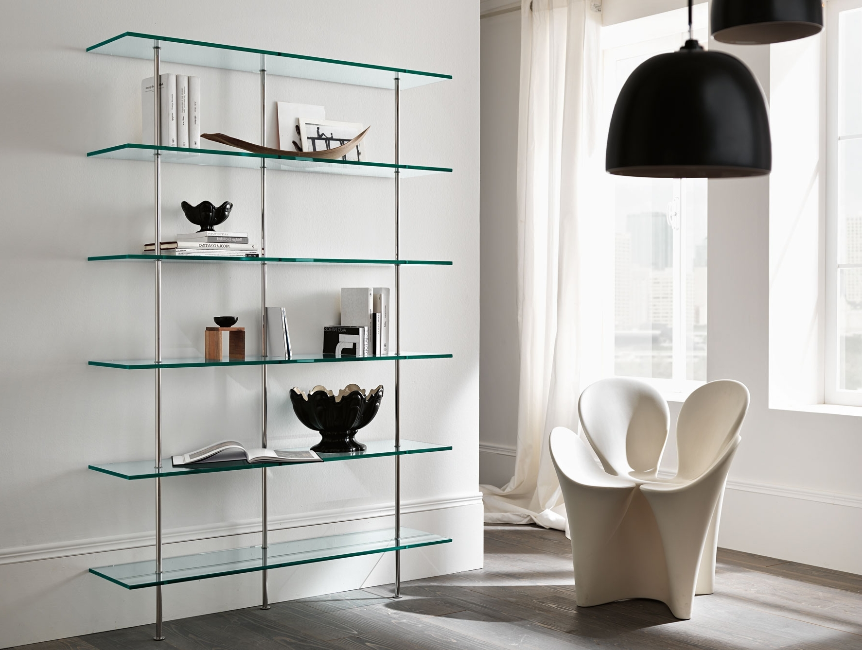 Nella Vetrina Tonelli Trasparenza Italian Contemporary Glass Bookcase Inside Famous Glass Bookcases (View 10 of 15)