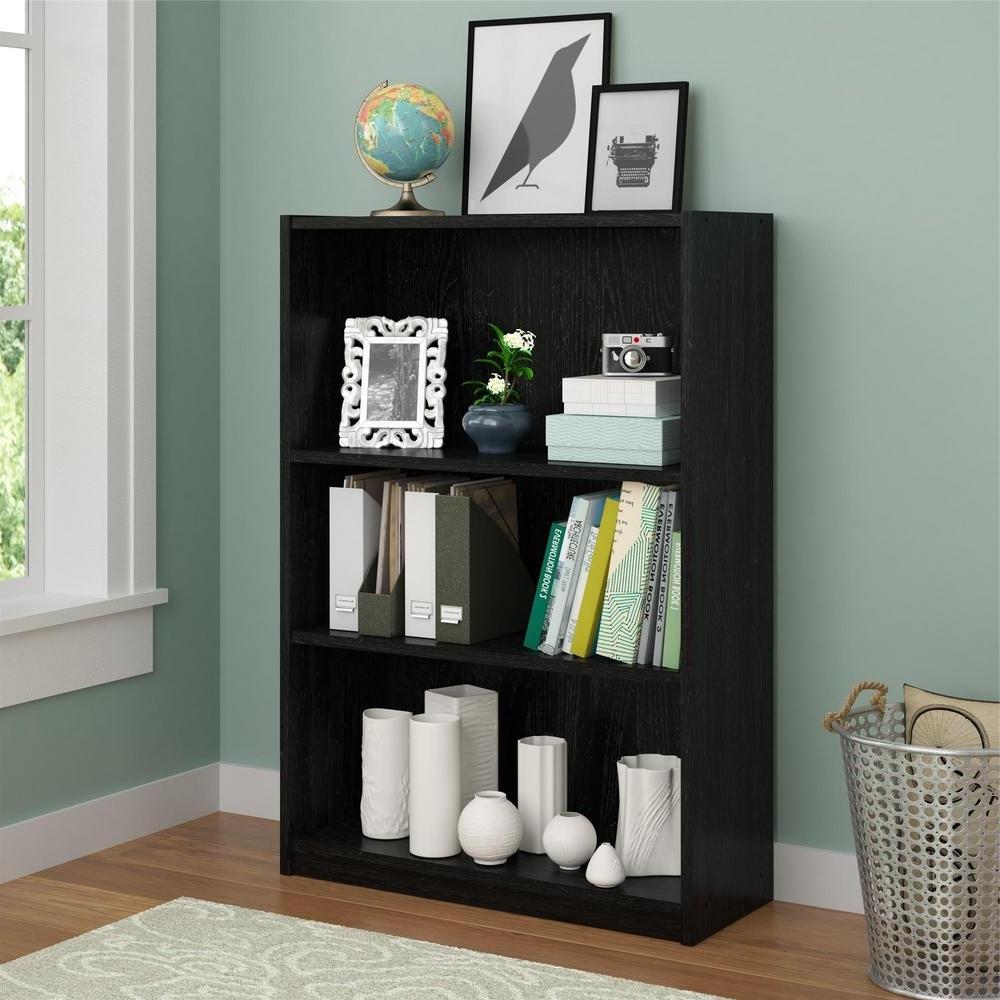 Newest Ameriwood 3 Shelf Bookcases Regarding Altra Furniture Core Bank Alder Open Bookcase 9424301pcom – The (View 14 of 15)