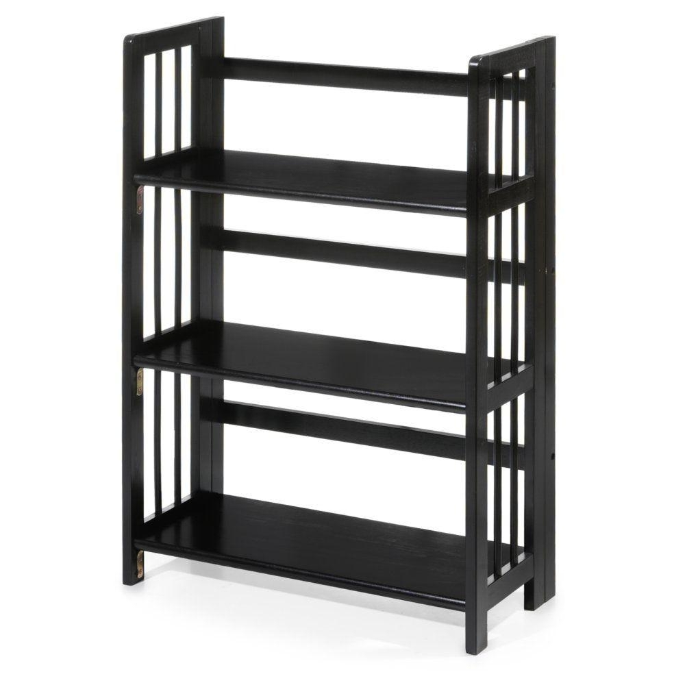 Newest Black Bookcases In Casual Home Natural Folding/stacking Open Bookcase (View 7 of 15)