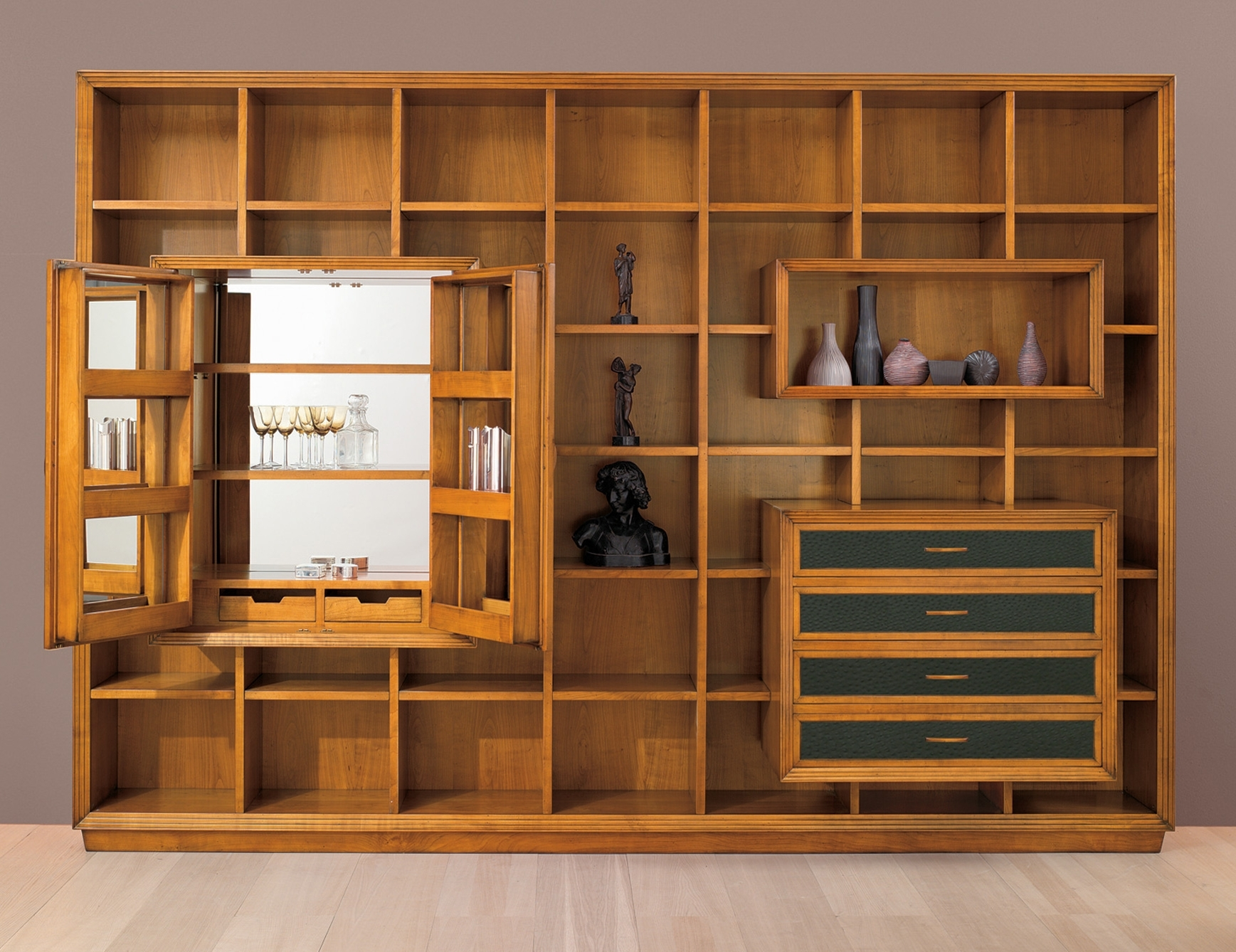 Newest Book Cupboard Designs Intended For Wall Units (View 9 of 15)