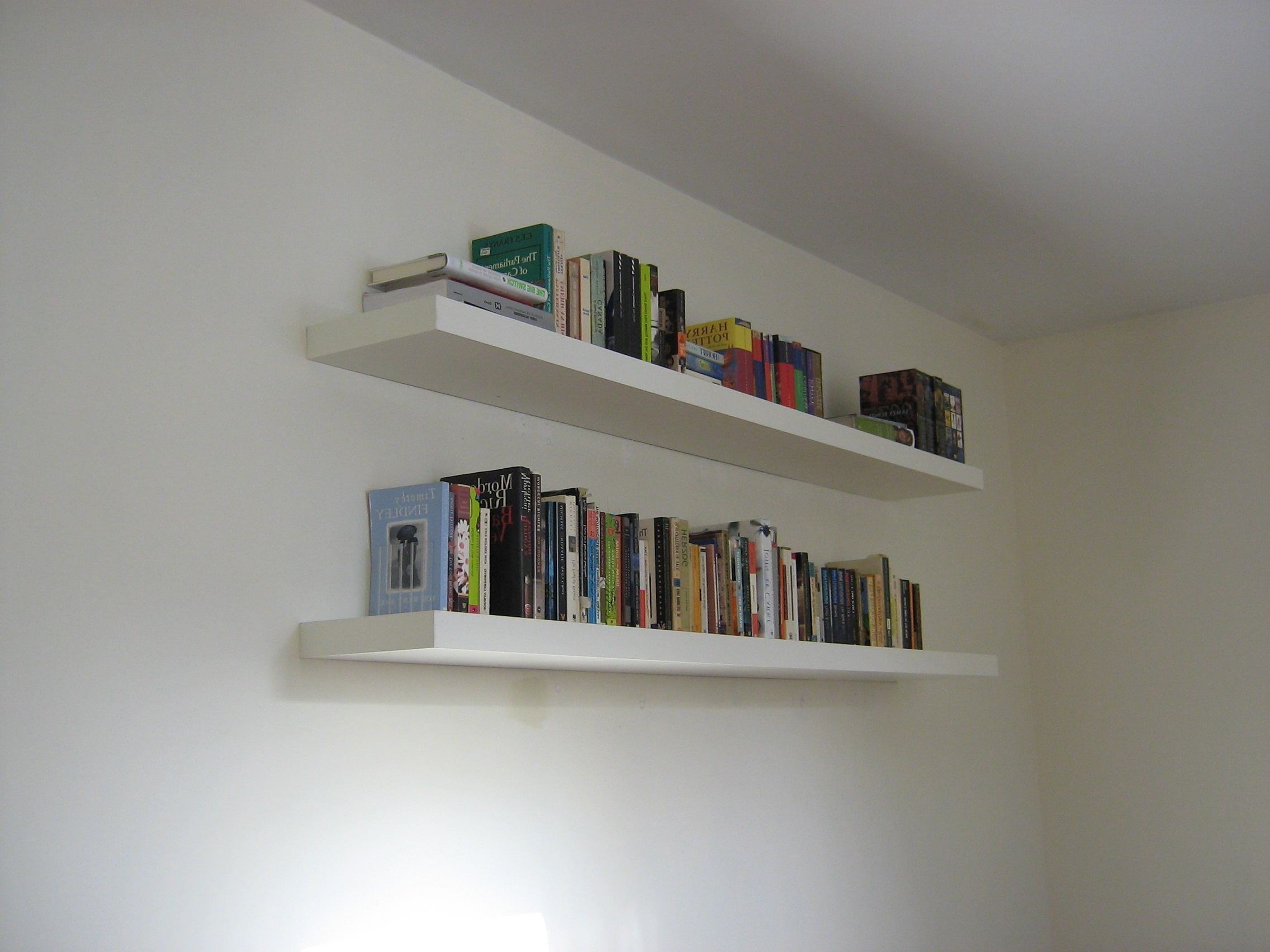 Newest Book Wall Shelves Gallery With Design Enhancement : Contemporary For White Wall Shelves (View 15 of 15)