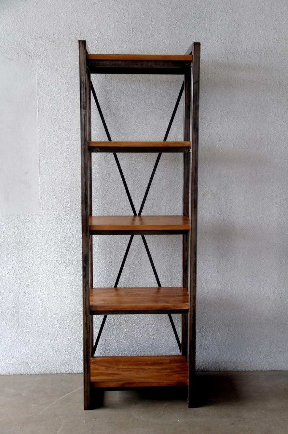 Newest Bookcase With File Drawer And Iron Wood Together Casual Home In Iron And Wood Bookcases (View 5 of 15)