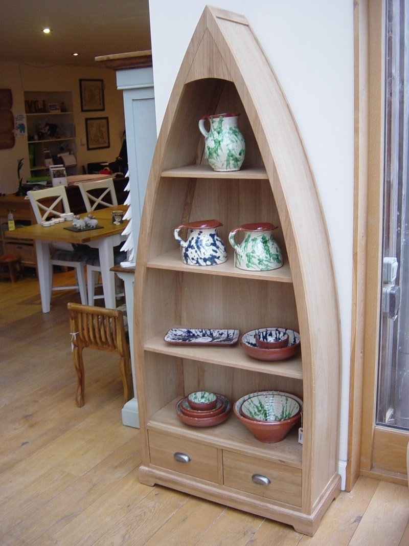 Newest Breathtaking Boat Shaped Shelf / Wall Shelves / Faamy Pertaining To Boat Bookcases (View 12 of 15)